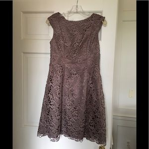 Adrianna Papell Taupe lace dress